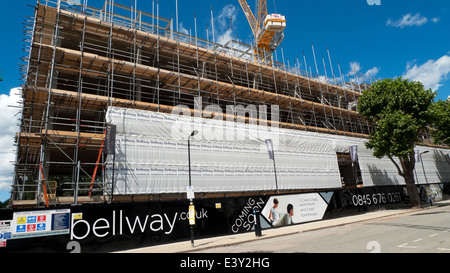 Bellway Homes construction site on Lawrence Road in  West Green Road area of Seven Sisters Tottenham North London - Stock Photo