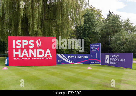 Denham, London, UK, 1 July 2014.  ISPS HANDA Ladies European Masters 2014 - practice day at The Buckinghamshire - Stock Photo