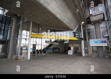 The entrance of the Renfrew Skytrain Station in Vancouver, Canada. - Stock Photo