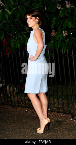 London, UK. 1st July 2014. Princess Eugenie  attend The Serpentine Gallery Summer Party at Kensington Gardens 1st - Stock Photo