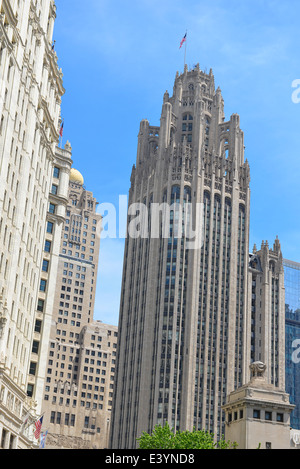Tribune Tower, Chicago, Illinois - Stock Photo