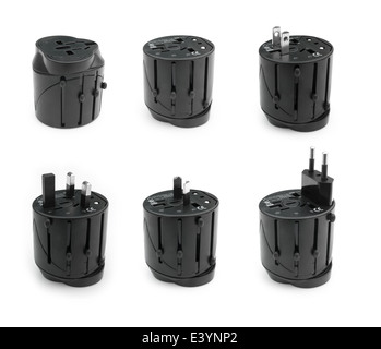 different views of universal adapter - Stock Photo