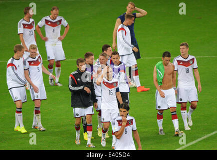 Porto Alegre, Brazil. 30th June, 2014. The German team celebrates after the FIFA World Cup 2014 round of 16 soccer - Stock Photo