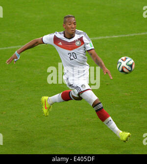 Porto Alegre, Brazil. 30th June, 2014. Germany's Jerome Boateng during the FIFA World Cup 2014 round of sixteen - Stock Photo
