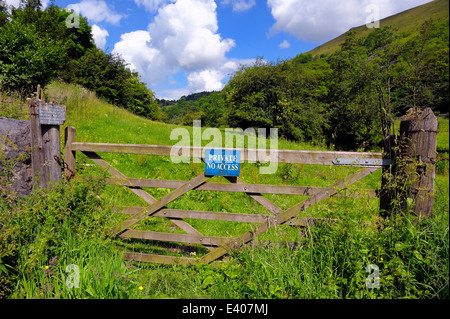 Private no access to farm land Derbyshire Peak District Monsal Dale England UK - Stock Photo