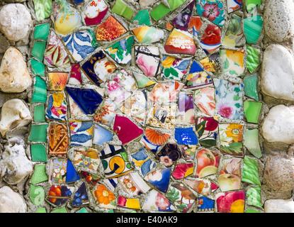 guernsey seashells pebbles colourful pieces broken - Stock Photo