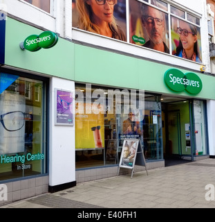A branch of Specsavers Nottingham England UK - Stock Photo