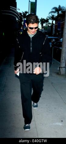 Fast and The Furious star, Rick Yune walking along on Bedford Drive in Beverly Hills  Featuring: Rick Yune Where: - Stock Photo