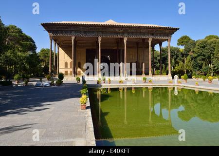 Iran, Isfahan Province, Isfahan, Safavid Chehel Sotoun Palace - Stock Photo