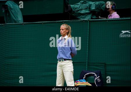 Wimbledon, London, UK. 1st July, 2014. Tennis: Wimbledon Championship 2014, day eight of the Wimbledon Lawn Tennis - Stock Photo