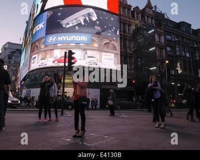 April 15, 2014 - London, UK - The Piccadilly circus  (Credit Image: © Giannis Papanikos/NurPhoto/ZUMA Wire) - Stock Photo