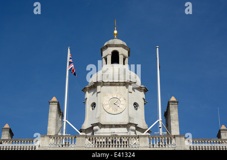 Clocktower on Government Admiralty building at Horse Guards Parade. Westminster. London. England - Stock Photo