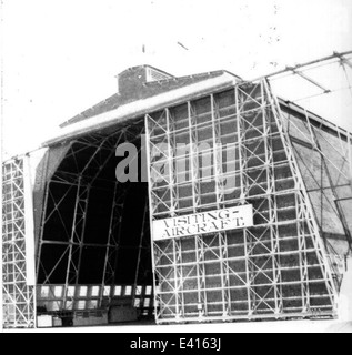 NAS SD Dirigible hangar in 1920s - Stock Photo