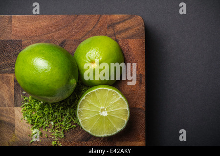 Ingredient for making green curry paste - lime - Stock Photo