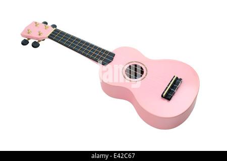 Pink Ukulele - Stock Photo