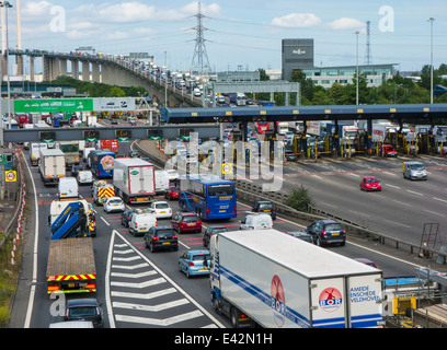 Dartford - Thurrock River Crossing tolls - Stock Photo