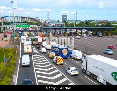 Dartford crossing tolls - Stock Photo