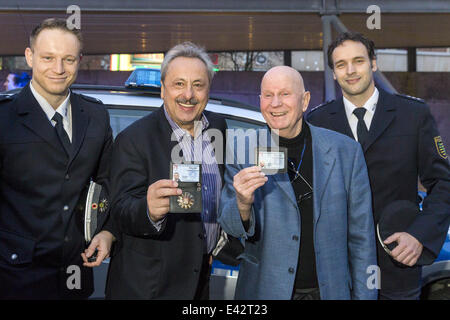 Premiere of the movie 'Stubbe - Von Fall zu Fall' at Kristallpalast  Featuring: Wolfgang Stumph,Lutz Mackensy Where: - Stock Photo