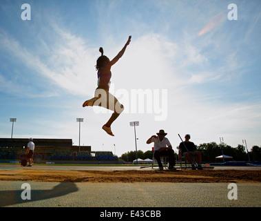 long jump track meet event