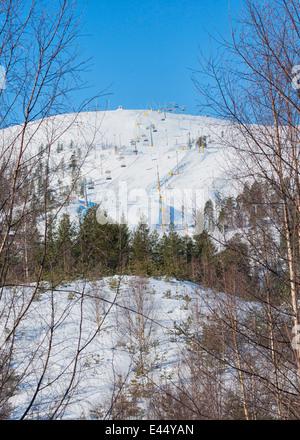 Pyha Ski Resort in Luosto, Finland - Stock Photo