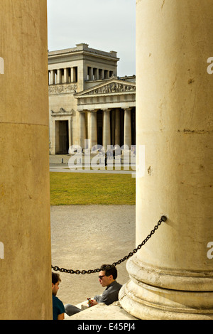 The Propylaea, city gate on Koenigsplatz, Munich, Upper Bavaria, Germany, Europe - Stock Photo