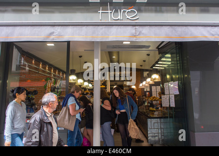 Paris, France, People Shopping in the Marais Area, Stores, French Bakery Patisserie Shop, 'Hure', Shop Front, Sign - Stock Photo