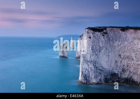 The white cliffs at Studland, Isle of Purbeck, Jurassic Coast, Dorset, England, UK. November 2011 - Stock Photo