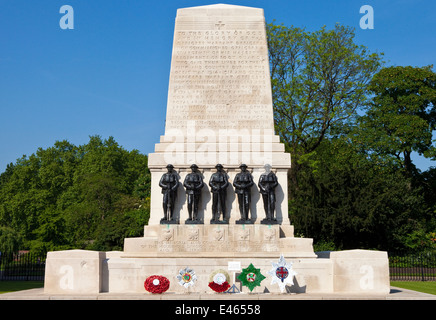 The Guards Memorial at Horseguards Parade in London. - Stock Photo