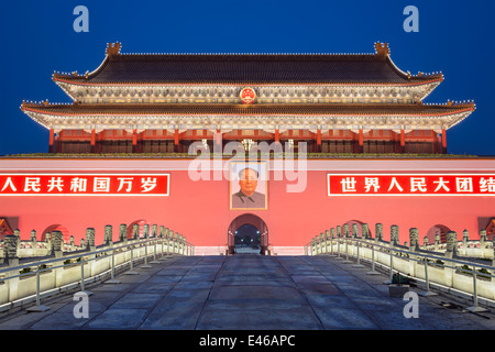 Tiananmen Square in Beijing, China. - Stock Photo