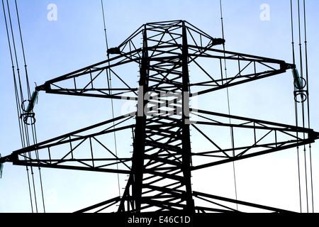 Electricity pylon, France - Stock Photo
