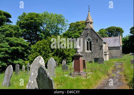 Old, now closed St Andrew's church and graveyard, Molygrove, Pembrokeshire, Wales, UK. - Stock Photo