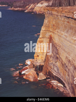 Pictured Rocks Cliffs V - Stock Photo
