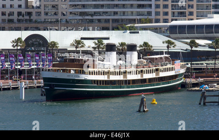 Former ferry boat 'South Steyne' in Darling Harbour, Sydney, New SOuth Wales, Australia - Stock Photo