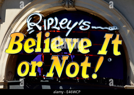London, England, UK. Ripley's Believe It or Not, London attraction in Picadilly Circus - Stock Photo