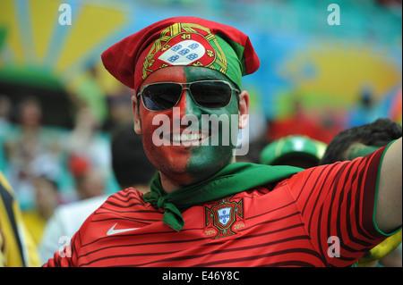 WM 2014, Salvador da Bahia, portugiesischer Fan, Deutschland vs. Portugal. Editorial use only. - Stock Photo