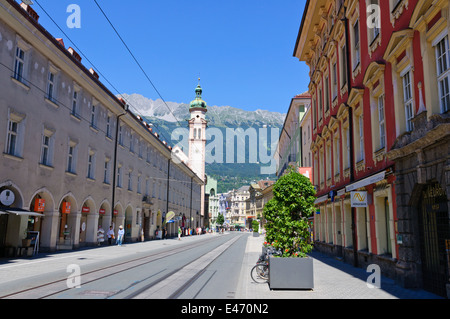 Cityscape of Innsbruck in Austria - Stock Photo