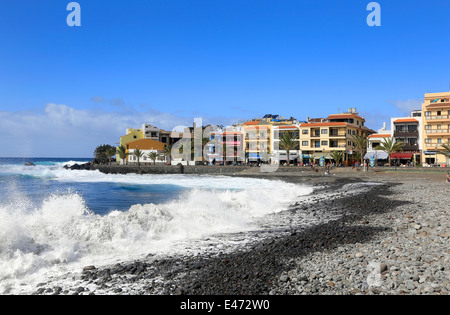 Valle Gran Rey, Spain, beach at La Playa on the island of La Gomera - Stock Photo