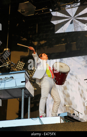 Arcade Fire play live in Hyde Park at the Barclaycard Presents British Summer Time Hyde Park - Stock Photo