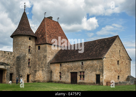 Château de Biron, medieval castle in the valley of the Lède, Dordogne, Aquitaine, France - Stock Photo