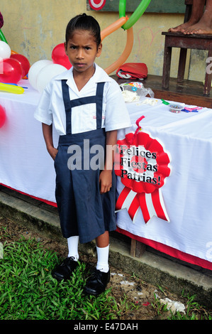 School - Independence Day Festival in Industria - PANGUANA . Department of Loreto .PERU - Stock Photo
