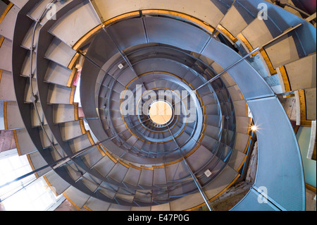 Spiral staircase Mackintosh Tower in Lighthouse centre for architecture Charles Rennie Mackintosh in Glasgow, SCOTLAND, - Stock Photo