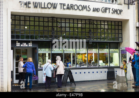 The Willow Tearooms and Gift Shop designed by Charles Rennie Mackintosh in 1903 in Sauciehall Street, Glasgow, SCOTLAND, - Stock Photo