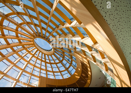 Glass dome on the roof of Liverpool Central Library, Merseyside, UK.  The new restored library opened on 17th May - Stock Photo