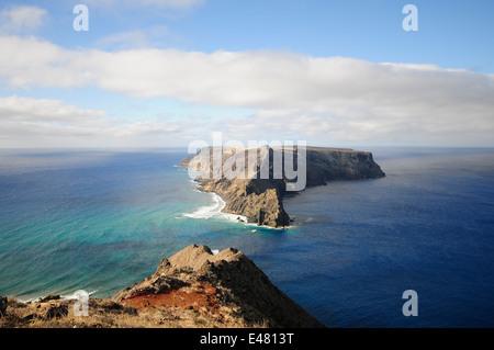 high coast in Porto Santo - Stock Photo