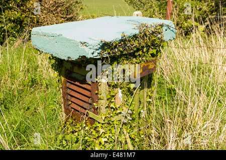 Royal Observer Corps post, Cold War underground bunker to monitor after nuclear attack. Ventilator. - Stock Photo