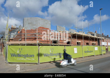 New houses being built in Gorleston, Norfolk - Stock Photo