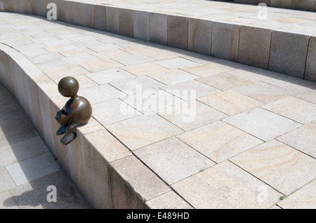 THE HAGUE - NETHERLANDS - CIRCA JUNE 2014: Sculpture garden, with sculptures from the American Tom Otterness. - Stock Photo