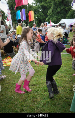 Great Tew, Oxfordshire. July 5th 2014. Cornbury Music Festival.  Music and fun took over at the festival as the - Stock Photo
