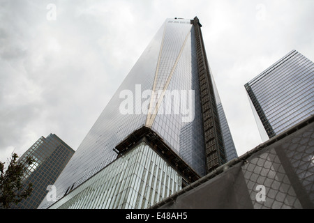 9/11 Memorial at World Trade Center, Ground Zero, New York - Stock Photo