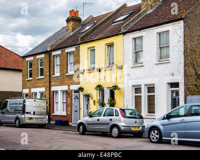 Typical Terraced Victorian cottages, Twickenham, Greater London, UK - Stock Photo